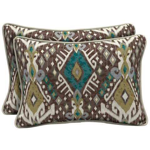 Arden Selections Tenganan Outdoor Oversized Lumbar Pillow 2-Pack - 15 in L x 22 in W x 6 in H