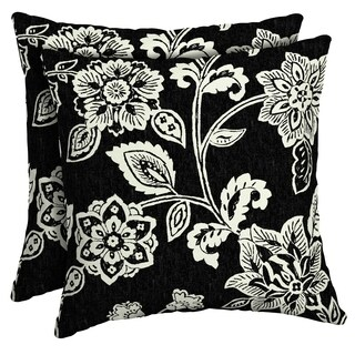 Arden Selections Ashland Jacobean Outdoor Square Pillow (2-Pack)