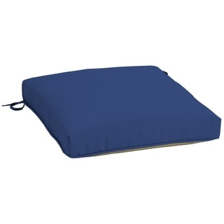 Arden Selections Lapis Canvas Texture Outdoor Snapdry Seat Cushion - 21 in L x 21 in W x 5 in H