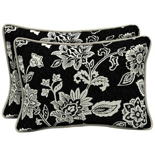 Arden Selections Ashland Jacobean Outdoor Oversized Lumbar Pillow 2-Pack