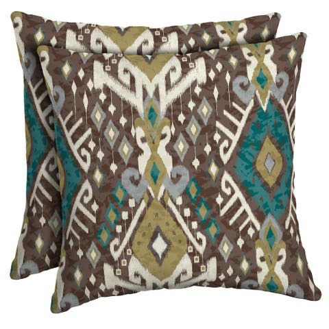 Arden Selections Tenganan Outdoor Square Pillow 2-Pack - 16 in L x 16 in W x 5 in H