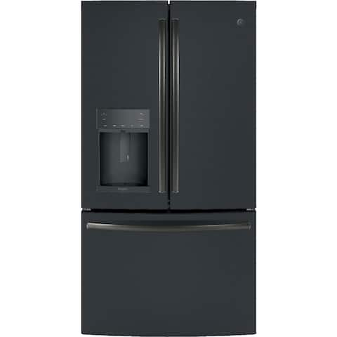 GE Profile Series ENERGY STAR 27.8 Cu. Ft. French-Door Refrigerator with Hands-Free AutoFill in Black Slate