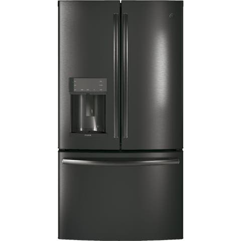 GE Profile Series ENERGY STAR 27.8 Cu. Ft. French-Door Refrigerator with Hands-Free AutoFill in Black Stainless