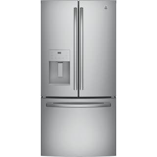 GE ENERGY STAR 17.5 Cu. Ft. Counter-Depth French-Door Refrigerator in Stainless Steel