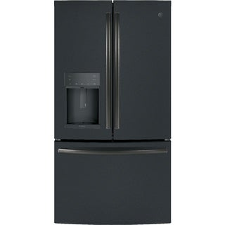GE Profile Series ENERGY STAR 22.2 Cu. Ft. Counter-Depth French-Door Refrigerator with Hands-Free AutoFill in Black Slate