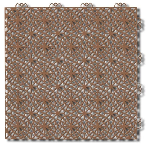 "Bergo XL Interlocking Floor Tiles, Center, 14.8"" x 14.8"", 14 Pack"