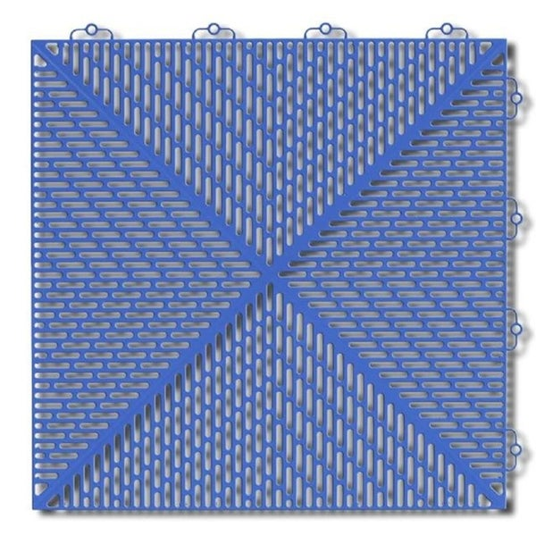 "Shop Mats Inc. Bergo Soft Wet Area Floor Tiles, 14.8"" X 14"