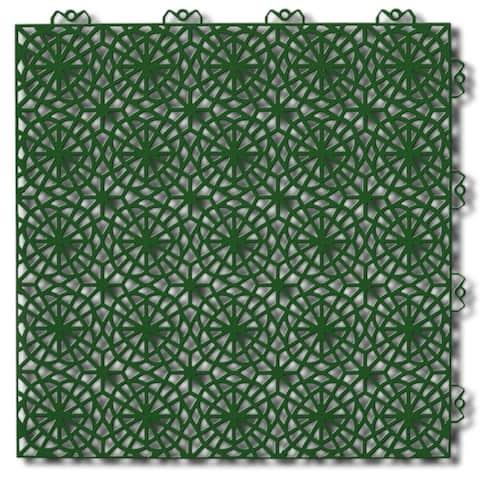 "Bergo XL Interlocking Floor Tiles, Center, 14.8"" x 14.8"", 35 Pack"