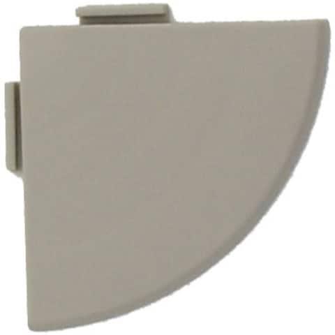 "Bergo XL Floor Tile Corner Trim, 2.5"" x 25"", 4 Pack"