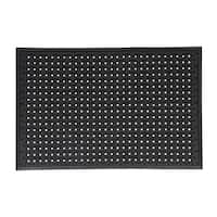 Mats Inc. Dogbone Multi Use Rubber Utility Mat, Black, 2' x 3'