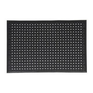 Mats Inc. Dogbone Multi Use Rubber Utility Mat, Black, 2' x 3'