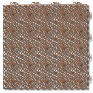"Bergo XL Loose Lay/Snap Tile Edge Trim, 14.8"" x 14.8"" - cedar wood"