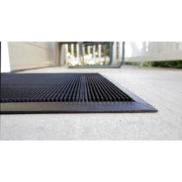 Mats Inc Brush Clean Fingertip Outdoor Entrance Mat Black 3 X 6 Overstock 20456798