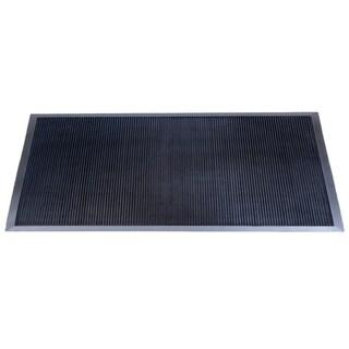 Mats Inc. Brush Clean Fingertip Outdoor Entrance Mat, Black, 3' x 6'