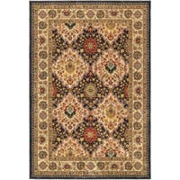 """Panel Luxurious Brown Mesquite 7x10 Area Rug 6'7""""x9'8"""""""