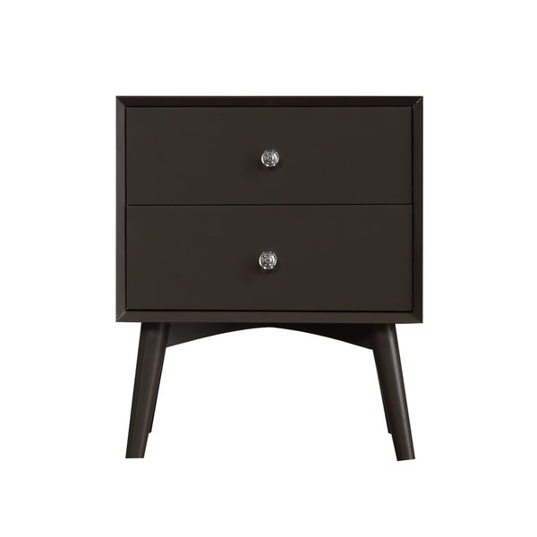 Emerald Home Decor II Charcoal Gray 2 Drawer Nightstand B351 04GRY