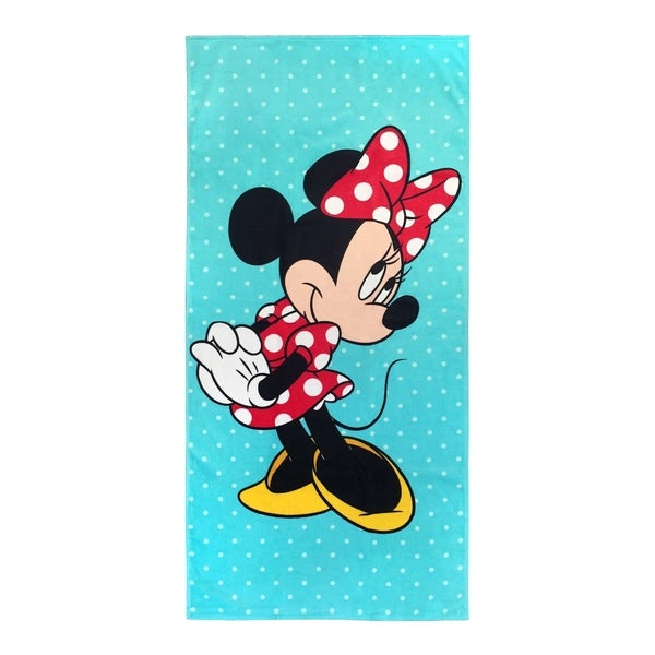 Disney Minnie Mouse Blue Vibes Cotton Beach Towel