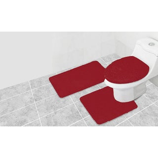 3 Piece Frisco Acrylic Bath Rug Set