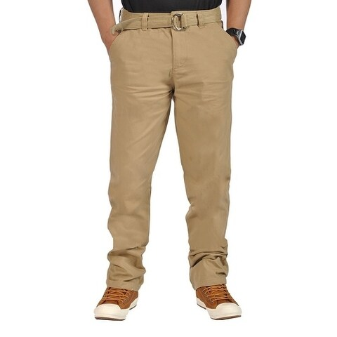 Mens Relaxed fit Casual Chino Tapered Pants Light Coffee