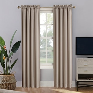 Link to Sun Zero Oslo Home Theater 100% Blackout Rod Pocket Curtain Panel Similar Items in Curtains & Drapes