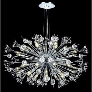 Fleur Illumination Chrome Steel Crystal 44-light Chandelier