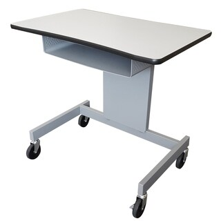 The Marvel Focus Activity Desk XT with Book Box ( Gray/Silver)