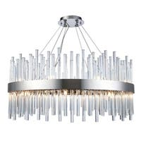 Fleur Illumination 18 light Chrome Chandelier - royal cut crystals