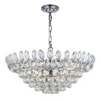 Fleur Illumination 11 light Chrome Chandelier