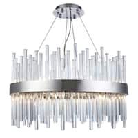 Fleur Illumination 16 light Chrome Chandelier - royal cut crystals