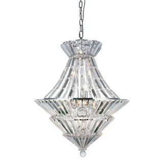 Fleur Illumination Chrome Metal/Crystal 12-light Chandelier