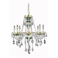Fleur Illumination Green Glass/Steel 8-light Chandelier