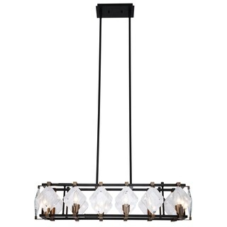 Royce Edge Iron/Glass 8-light Chandelier (2 options available)