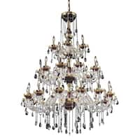 Fleur Illumination Gold Steel 30-light Chandelier