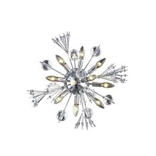 Fleur Illumination 10 light Chrome Wall Sconce