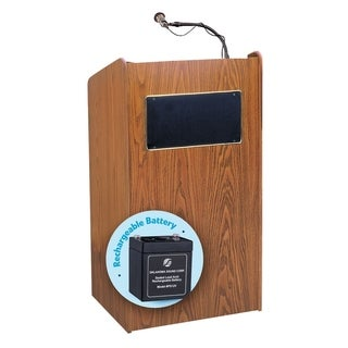 Aristocrat Floor Sound Lectern and Rechargeable Battery (Option: Purple)