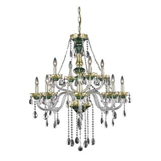 Buy green ceiling lights online at overstock our best lighting fleur illumination 12 light green chandelier aloadofball Choice Image