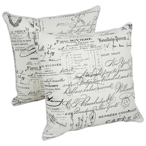 Blazing Needles 18-inch Indoor Designer Throw Pillows (Set of 2)