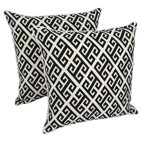 Blazing Needles 18-inch Indoor Designer Throw Pillows ( Set of 2)