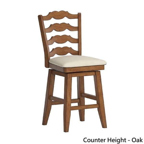 Miraculous Shop Eleanor French Ladder Back Swivel Chair By Inspire Q Ncnpc Chair Design For Home Ncnpcorg