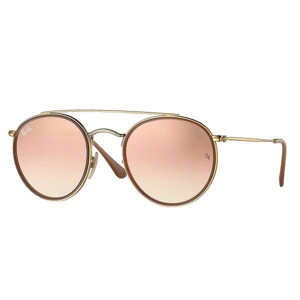 abdc0b4adbb78 Ray-Ban Round Double Bridge Sunglasses Gold  Copper Gradient Flash 51mm