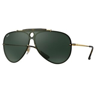 Ray-Ban RB3581N Blaze Shooter Sunglasses Gold/ Green Classic 32mm - Black