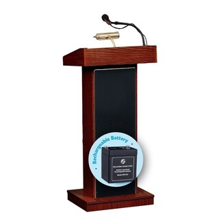 Orator Lectern and Rechargeable Battery (Option: Purple)