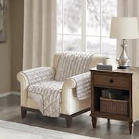 Madison Park York Faux Fur Chair Protector 3-Color Option