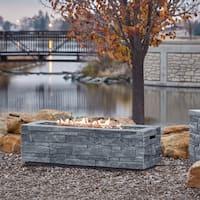 Real Flame Gray Ledgestone LP Fire Table w/NG conversion kit