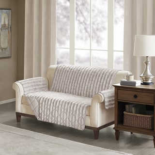 Madison Park York Faux Fur Loveseat Protector 3-Color Option