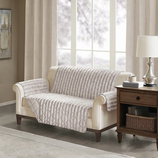 Madison Park York Faux Fur Loveseat Protector