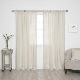 Aurora Home Faux Linen Curtain Panel Pair