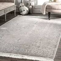 Gracewood Hollow LaDuke Medallion Silver Tassel Area Rug (10' x 14')