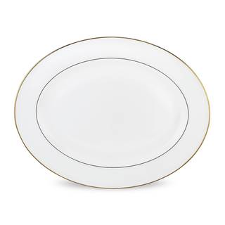 Lenox Continental Dining Gold Oval Platter