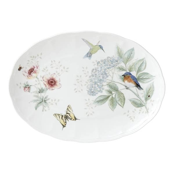 Shop Lenox Butterfly Meadow Flutter Oval Platter Free